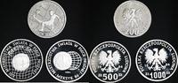 Polen 200 + 500 + 1000 Zloty 200 Zt PROBE, 500 Zt, 1000 Zt.PROBE, Fußball-WM 1986 in Mexiko
