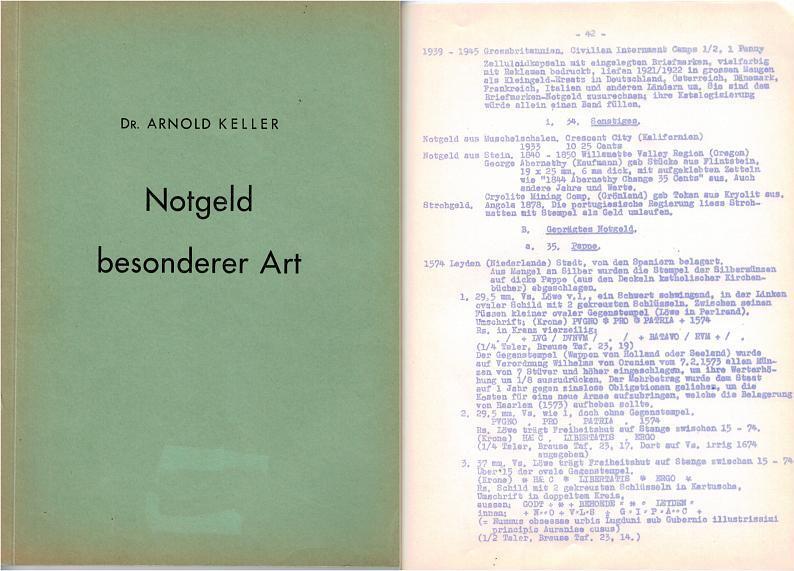 1959 Monographien KELLER, Arnold. br