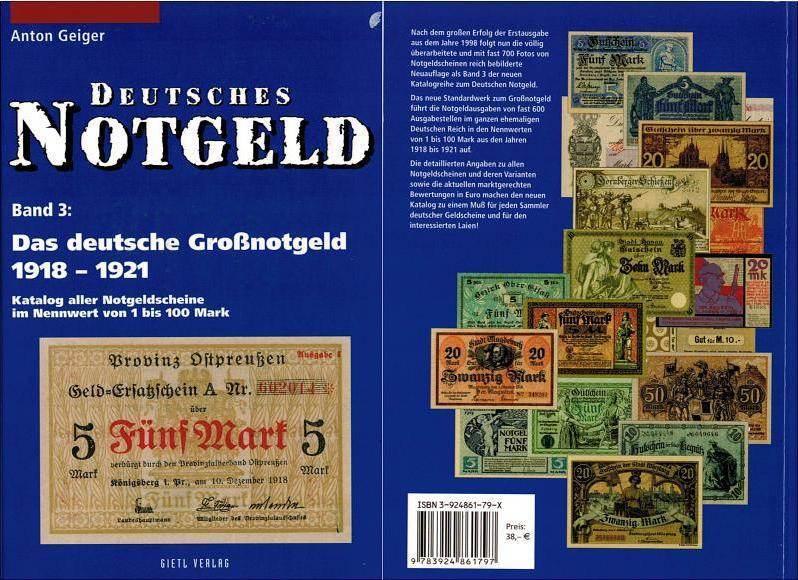 1 Mark 1918 Literatur zu Notmünzen und Marken, Papiergeld/Bank br
