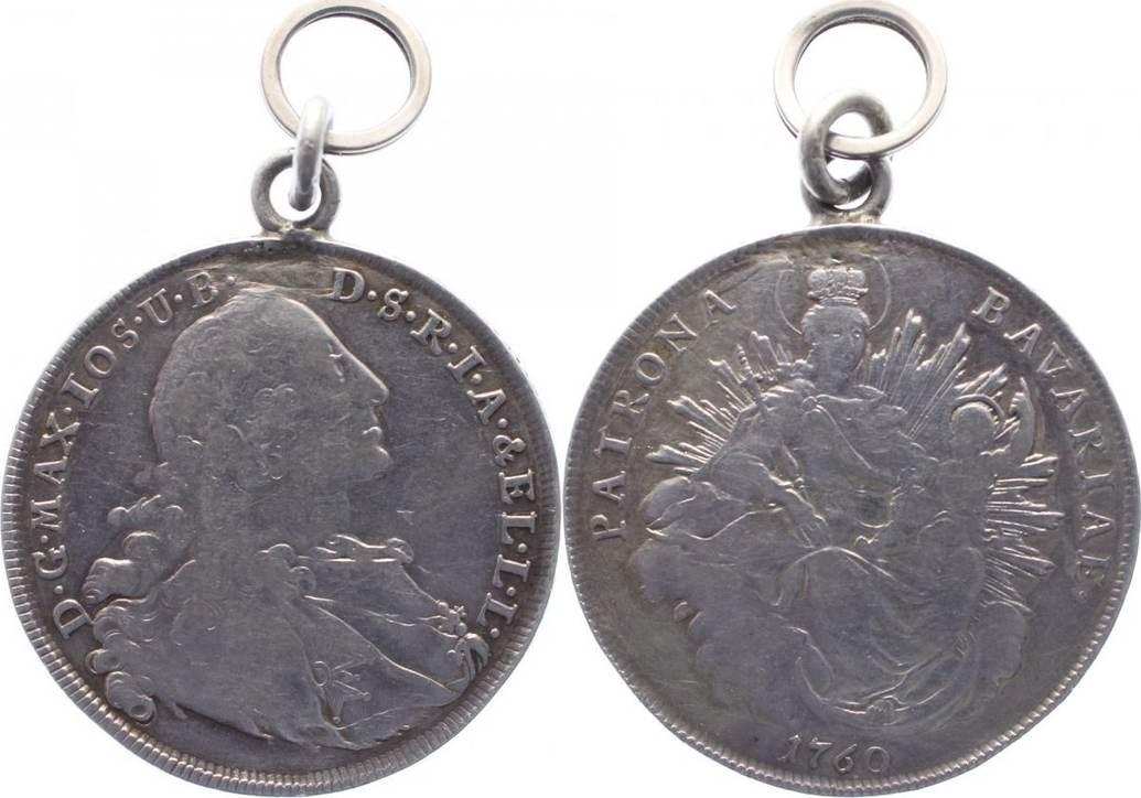 Madonnentaler 1760 Bayern Maximilian III. Joseph 1745-1777. alte Tragöse, sehr schön
