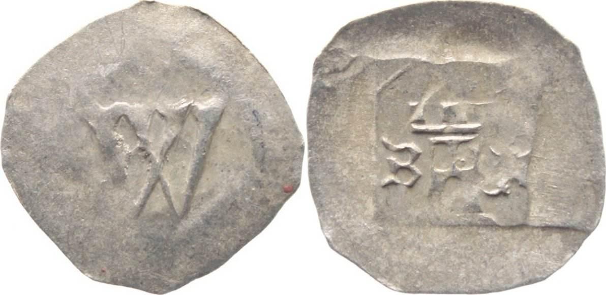 Heller 1329-1336 Speyer-Bistum Walram von Veldenz 1329-1336. sehr schön