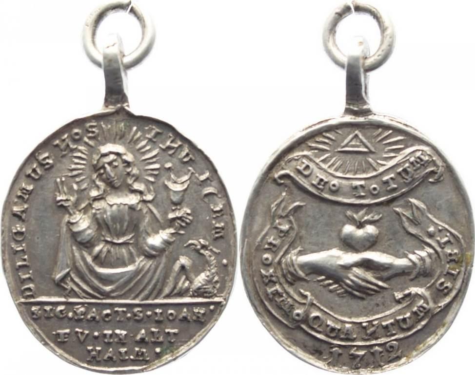 Medaille 1712 Wallfahrt und Kirchen Altheim O.-Öse, vorzüglich