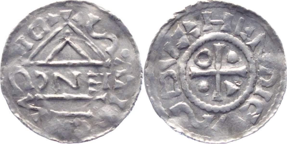 Denar 995-1002 Regensburg-Königliche u. Herzogliche Münzstätte Herzog Heinrich IV. der Heilige 995-1002. vorzüglich