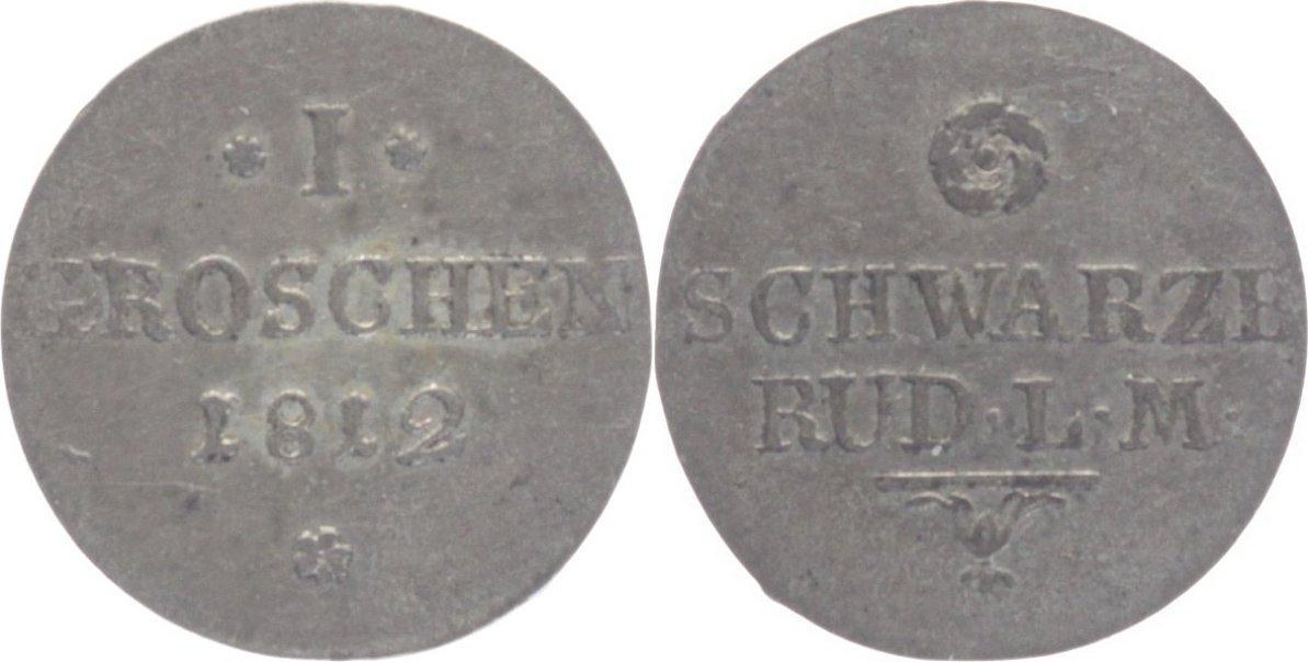 1 Groschen 1812 Schwarzburg-Rudolstadt, Grafschaft Friedrich Günther 1807-1867. sehr schön-vorzüglich