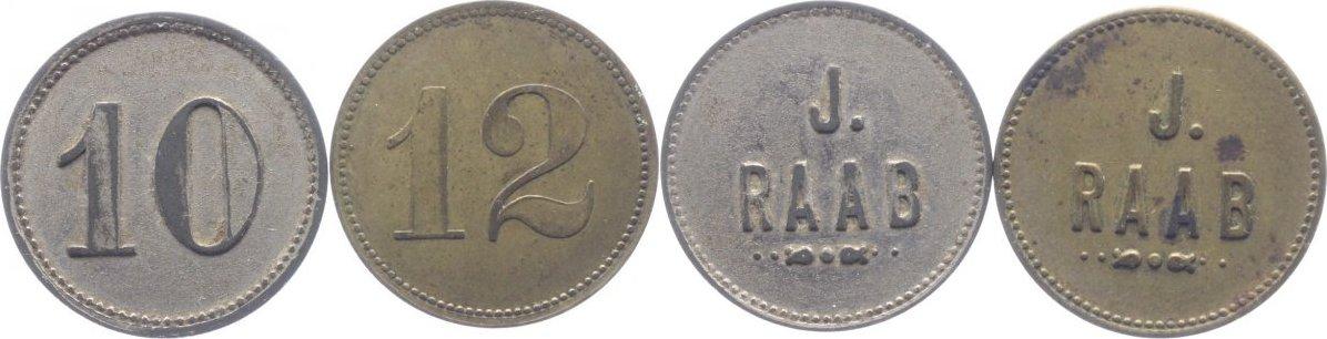 LOT: Wertmarken zu 10 und 12 Pfennig o.J, um 1920 Kaiserslautern sehr schön, vorzüglich