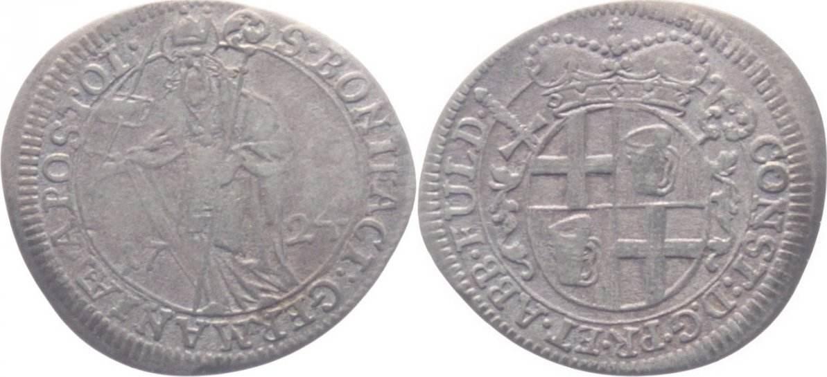 Groschen 1724 Fulda-Bistum Constantin von Buttlar 1714-1726. sehr schön