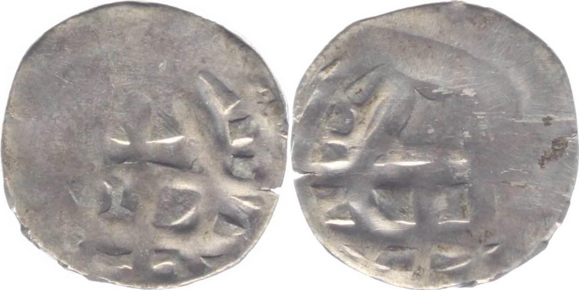 Pfennig Ulm-Königliche Münzstätte Anonym ab 1025 bis 1150. Prägeschw., schön-sehr schön