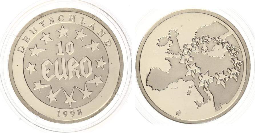 1998 10 Euro Deutschland Medaille Cuni Pp Ma Shops