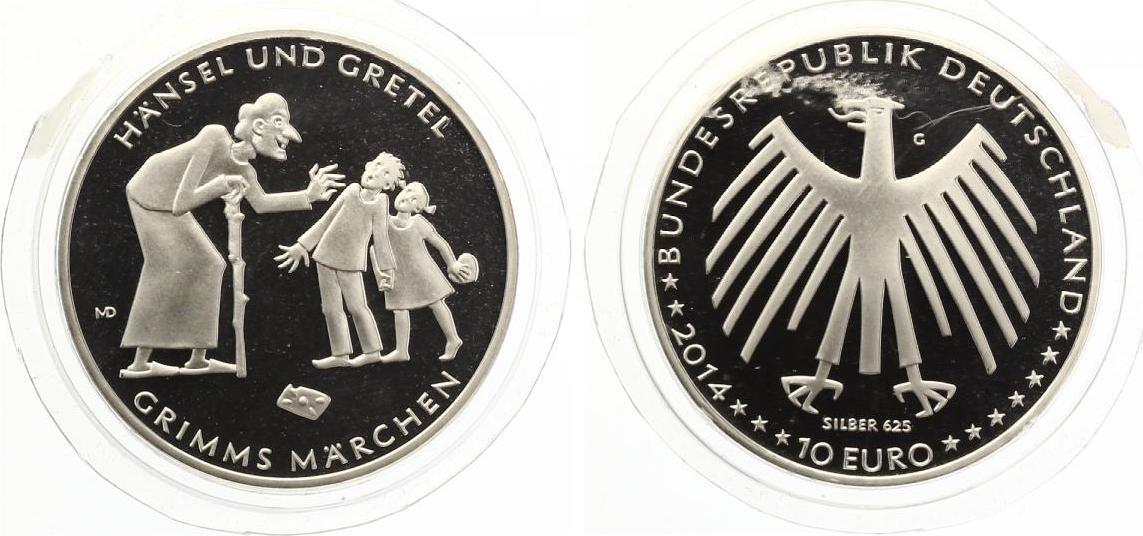 2014 10 Euro Hänsel Und Gretel Pp Kratzer Nur Auf Folie Nicht Auf