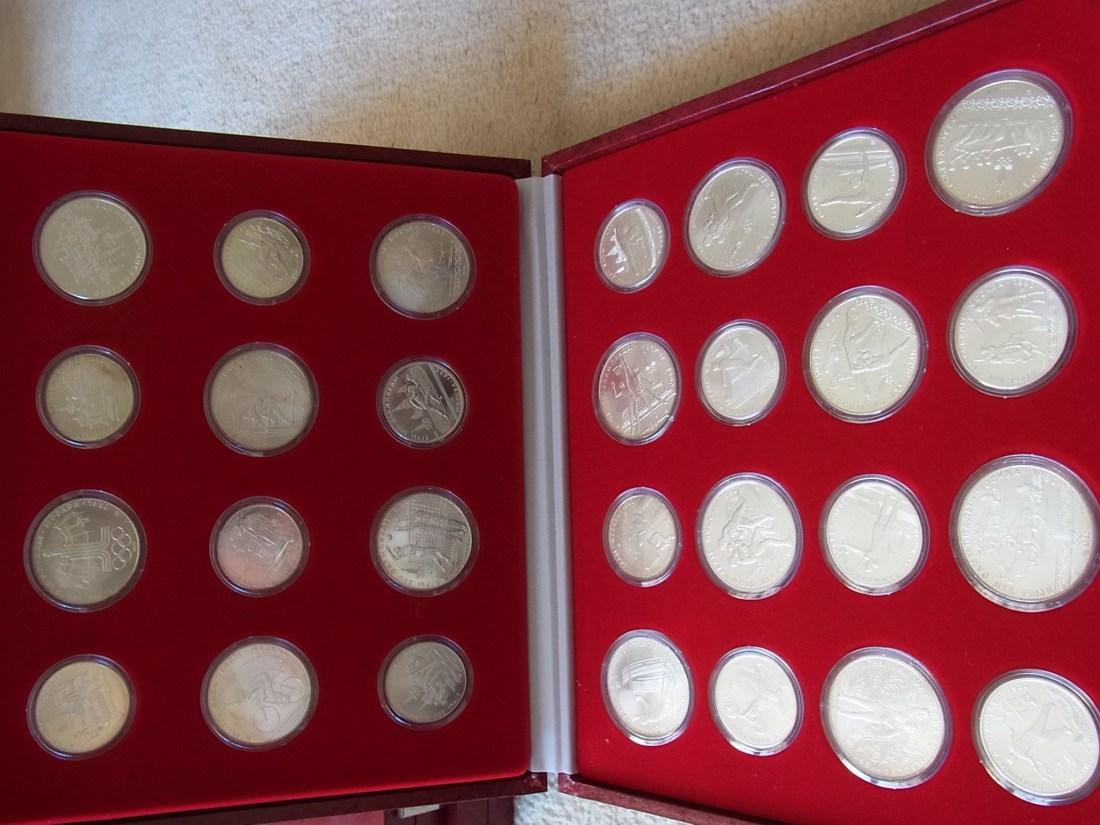Russland Olympische Spiele Moskau 1980 Komplette 28 Münzen 14x5