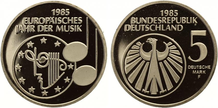 1985 5 Dm Europäisches Jahr Der Musik Proof Ma Shops