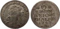 Brandenburg-Preußen Friedrich II. 1740-1786 1/6 Taler 1765