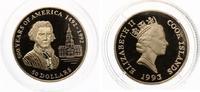 50 NZL Dollars Cook Islands Jefferson 500 Jahre Amerika 7,78g 583,3/1000 Gold