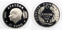 Türkei 2.500.000 Lira 10 Eurotaler Kemal Atatürk