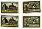 Visselhövede Flecken je 2 x 50Pfennig Mehl 1363.2a/b mit und ohne Kennummer 4 St