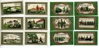Wildeshausen 2 x 25 Pfennig - 1 Mark Mehl 1426.1b komplett 6 Stück