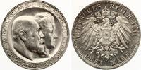 3 Mark Württemberg 1911 Silbernen Hochzeit hohes H Jaeger 177 b