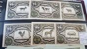 Langelohe 2 x 25 Pfennig - 75 Pfennig Mehl 765.1a komplett 6 Stück