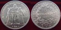 France  5 francs Hercule 1877 A, G.745a SUPERBE
