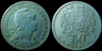 Portugal  Portugal, 50 centavos 1928, KM.577 TTB