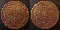 1869 Uruguay URUGUAY, 2 centesimos 1869, KM.12 TTB ss  11.31 US$ 10,00 EUR  +  9.62 US$ shipping