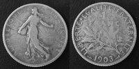 1903 France 1 Francs Semeuse de Roty 1903, G.467 TB Rare!   84.85 US$ 75,00 EUR  +  9.62 US$ shipping