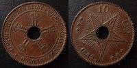 1889 Congo Belge Congo Belges, Belgie, 10 centimes 1889, petits coups ... 22.63 US$ 20,00 EUR  +  9.62 US$ shipping