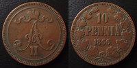 1866 Finlande, Finland Finlande, Finland, 10 pennia 1866, KM.5.1 TB à ... 20.93 US$ 18,50 EUR  +  9.62 US$ shipping
