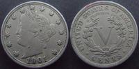 U.S.A  U.S.A, Five cent, 5 cent 1901, Liberty, TB à TTB