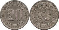 """Deutschland 20 Pfennig J6 20 Pfennig """"G"""""""