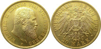 """Deutschland Württemberg 20 Mark Gold J296 20 Mark Gold Wilhelm II. """"F"""""""