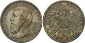 5 Mark 1898 Baden, Friedrich I., 1856-1907, vz+