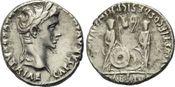 AR Denar 7-6 v. Chr., Römisches Reich, Augustus, 27 v.-14 n. Chr., ss