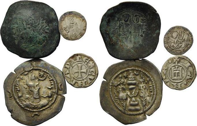 Lot Diverse Münzen 4 14jhd Venedig Byzanz Kleinasien Lot