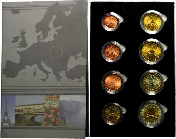Set Von Euro Probenspecimen 2005 Vatikan Sedisvakanz 2005