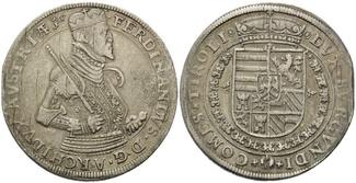 Taler o.J., Tirol, Ferdinand Erzherzog, 1564-1595, ss