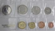 Deutschland, 1 Pf. bis 5 DM 1968 G, Kursmünzensatz,