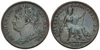 Großbritannien, Farthing 1825, f.vz Georg IV., 182