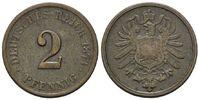 2 Pfennig 1873 G, Kaiserreich, Kleinmünze, ss  139,00 EUR kostenloser Versand