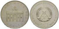 DDR, 20 Mark Brandenburger Tor, mit Punze 22.12.1994,
