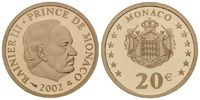 20 Euro 2002 Monaco, Fürst Rainier III., P...
