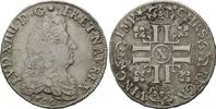 1/2 Ecu aux 8 L 1690 X Frankreich, Ludwig XIV., 1643-1715, ss  249,00 EUR kostenloser Versand