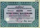 """Deutschland, 100 RM """"Sachtleben"""" AG für Bergbau und chemische Industrie, 100 RM 10. Apr. 1"""
