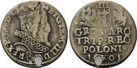 3 Gröscher 1601 K Polen, Sigismund III., 1587-1632, gelocht, f.ss  34,00 EUR kostenloser Versand