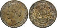 Vereinsdoppeltaler 1861 B, Sachsen, Johann, 1854-1873, vz  345,00 EUR kostenloser Versand