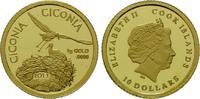 Cook Islands, 10 Dollars 2013, PP Weißstorch,
