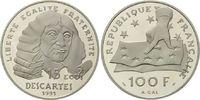 Frankreich, 100 Francs / 15 Ecu Rene Descartes,