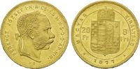 Ungarn, 8 Forint 20 Francs Franz Joseph I., 1848-1916,