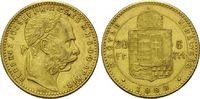 8 Forint 20 Francs 1888 KB, Ungarn, Franz ...