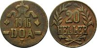 20 Heller 1916 B, Kolonien, Deutsch-Ostafrika, Tabora, ss-vz  95,00 EUR kostenloser Versand